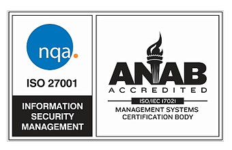 ANAB ISO 27001Quality Management Certificate Badge