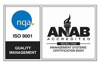 ANAB ISO 9001Quality Management Certificate Badge